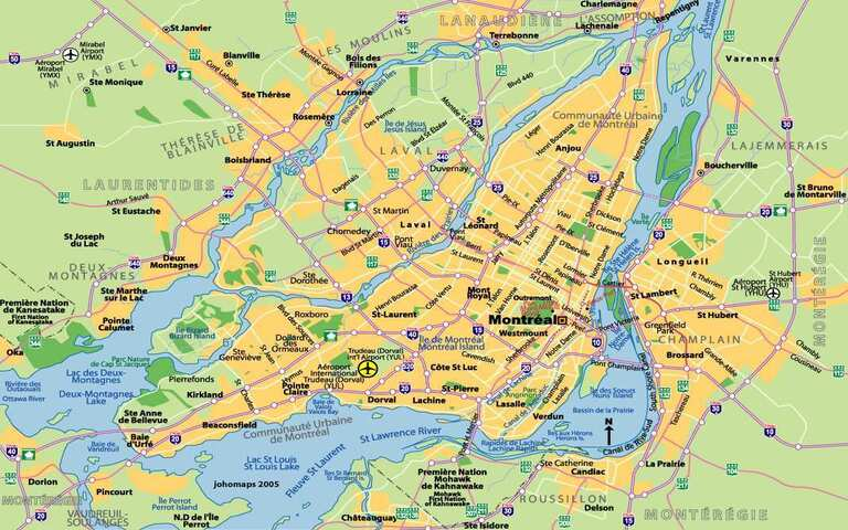 نقشه مونترال